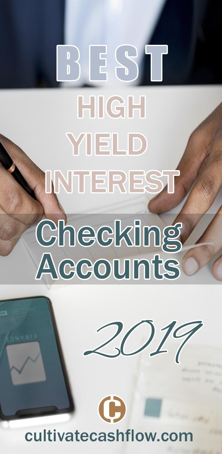 best high yield interest checking accounts 2019